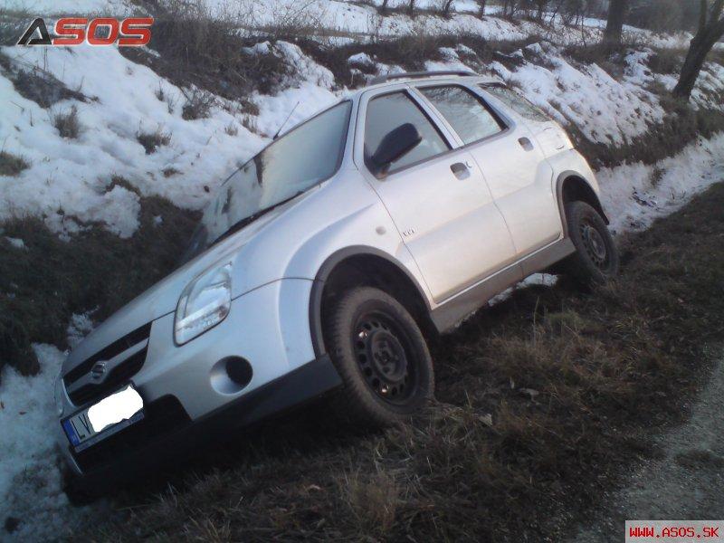 Nehoda vozidla Suzuki Ignis