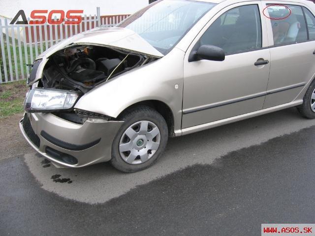 Nehoda vozidla Škoda Fábia