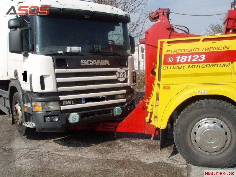 Porucha ťahača Scania